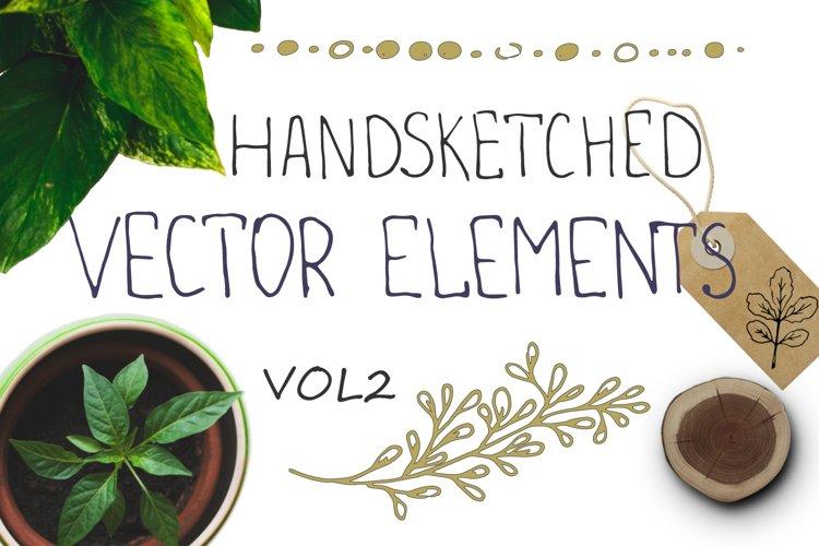 Handsketched floral elements. VOL2 example image 1