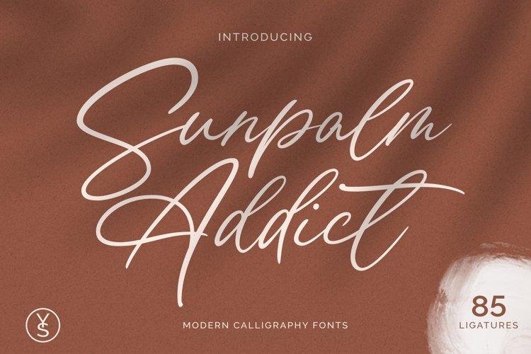 Sunpalm Addict | Modern Calligraphy example image 1