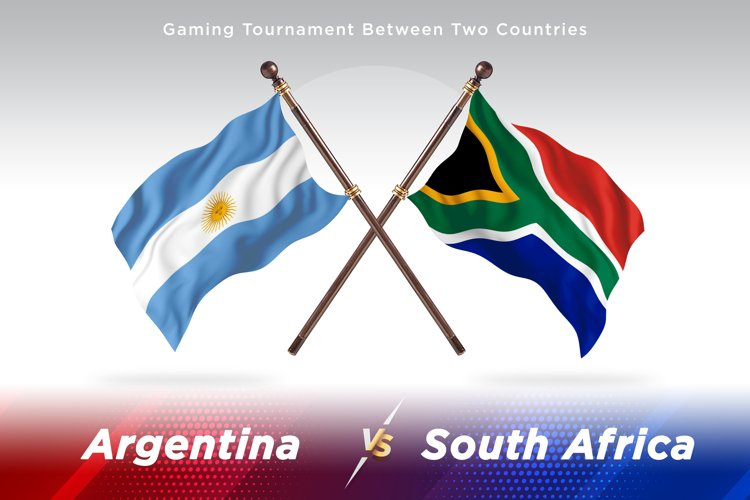 Argentina vs South Africa Two Flags example image 1