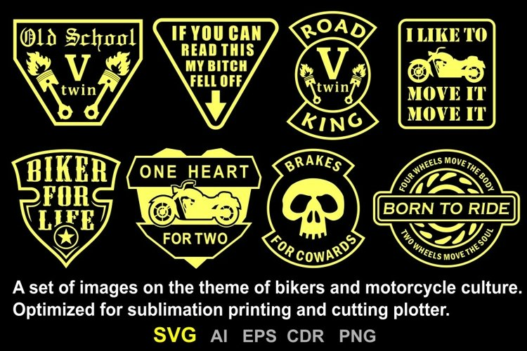 Images on the topic of bikers and motorcycle culture.
