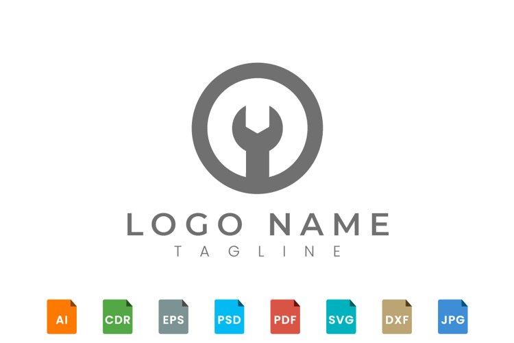 Mechanical gear logo design example image 1