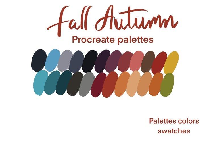 Fall autumn procreate colors palettes example image 1