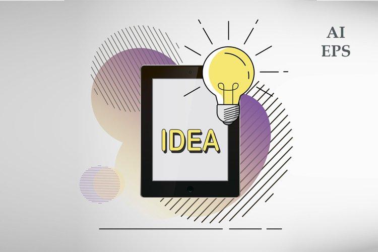 Vector Icons Idea, Business, Education, Brilliant idea
