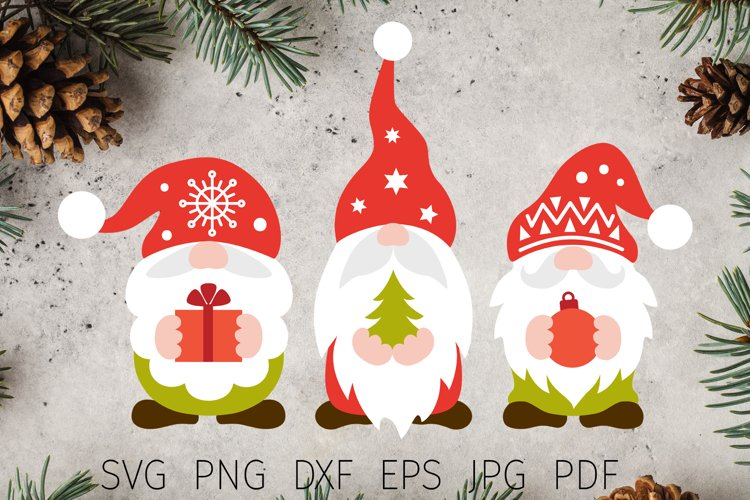 Christmas svg, christmas gnomes svg files for cricut t shirt example image 1