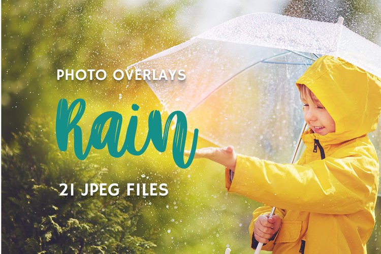21 Rain Photo Overlays