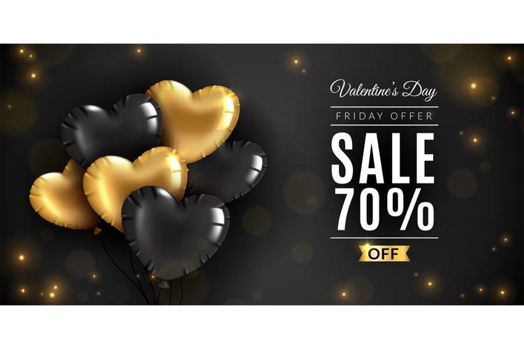 Valentines day sale. Romantic love, saint vincent date offer example image 1