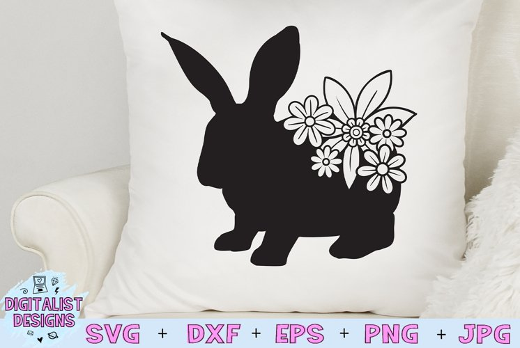 Easter Bunny SVG | Flower SVG |Rabbit SVG