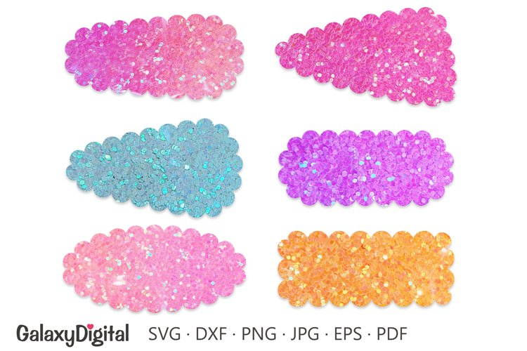 Scalloped Snap Clip SVG, Hair Clip Cover Template SVG