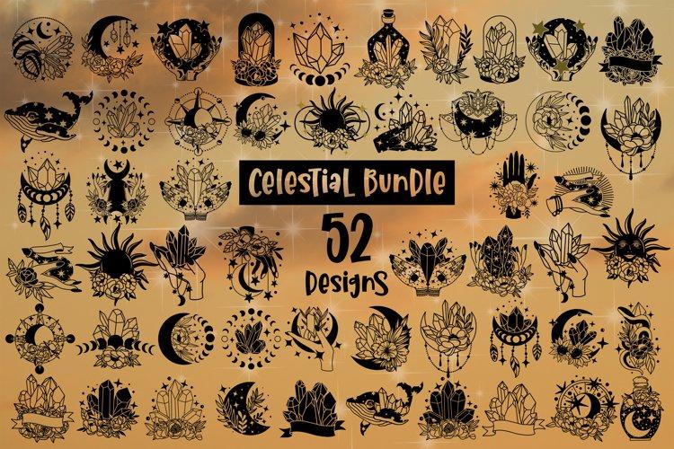 Celestial Svg Bundle of 52 designs Witchy Celestial