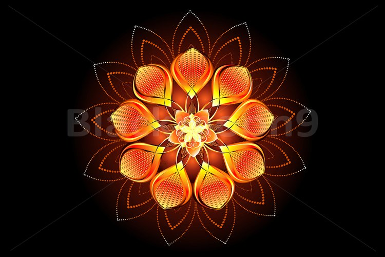 Abstract Orange Flower example image 1