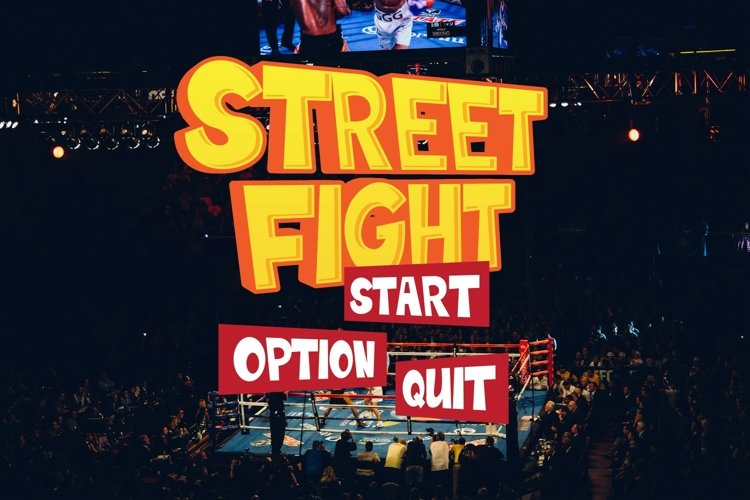 Fighting Font example image 1