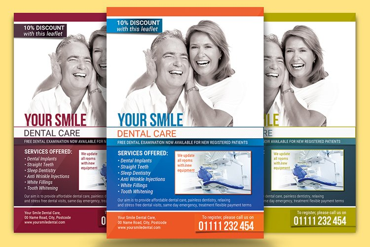 Dental Care Flyer Template example