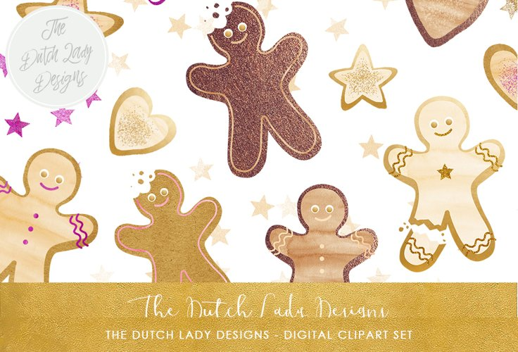 Gingerbread Man Christmas Cookie Set example image 1