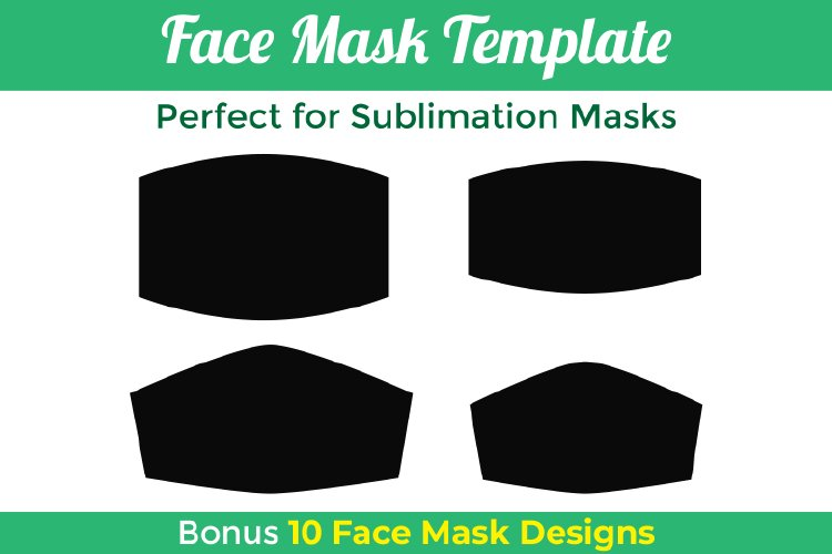 Face Mask Template SVG, Sublimation Mask Graphic