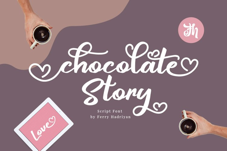 Chocolate Story - Script Font example image 1