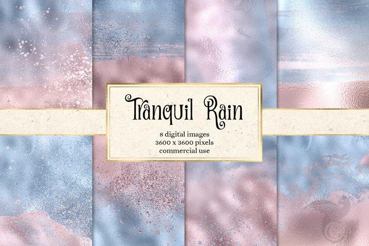 Tranquil Rain Digital Paper example image 1