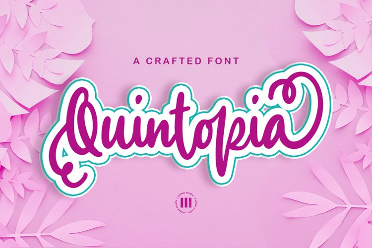 Quintopia- A Crafted Font example image 1