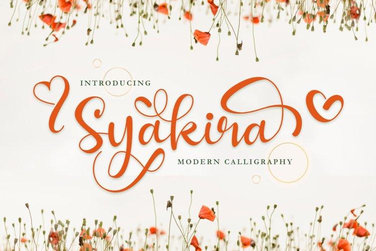 Syakira Beautiful Modern Calligraphy