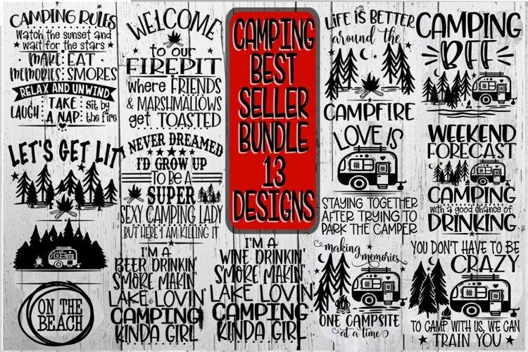 Camping Bundle - Best Sellers - 13 Designs - Vol 2 - SVG PNG example image 1