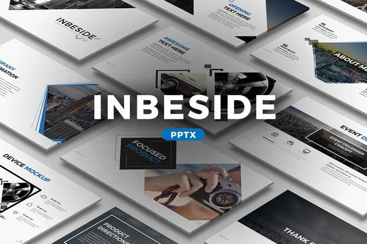 Inbeside Powerpoint Template example image 1