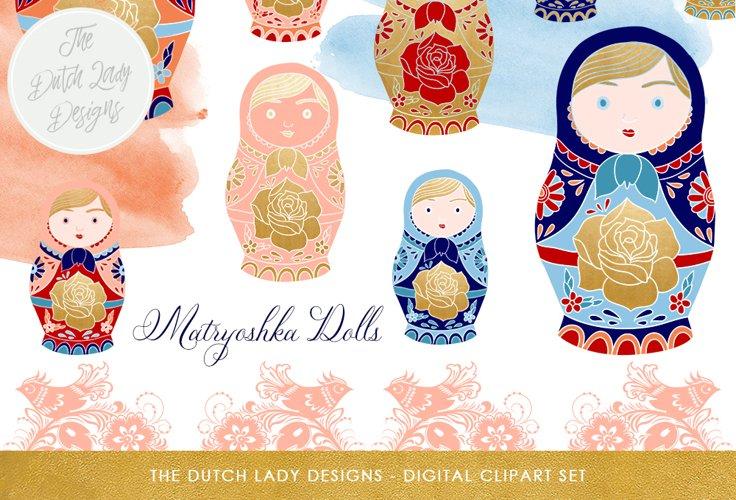 Russian Matryoshka Doll Clipart example image 1