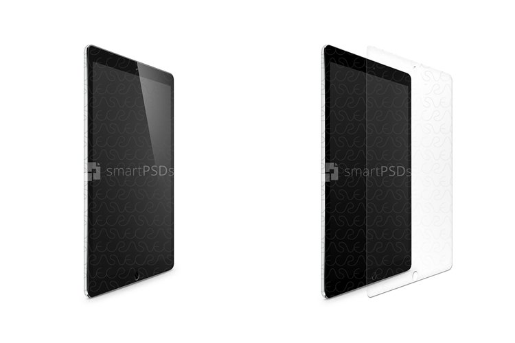 Apple iPad Pro 12.9 Tempered Glass Template 2015 example image 1