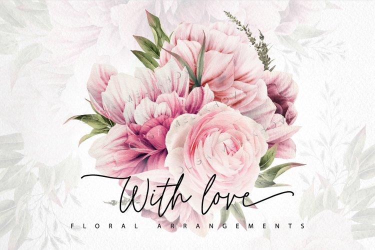 With Love , Floral arrangements, Watercolor flower cliparts