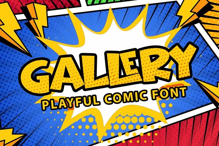 Web Font Gallery - Playful Comic Font example image 1