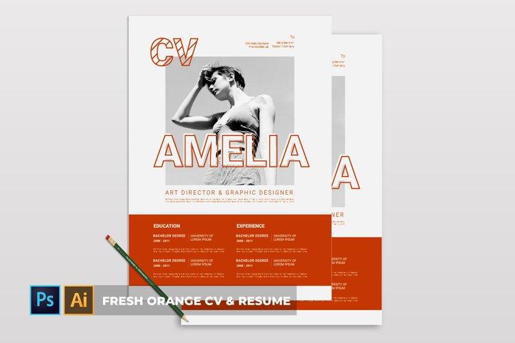 Fresh Orange | CV & Resume example image 1