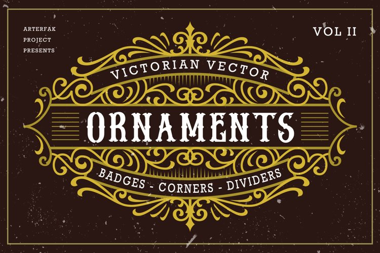 Victorian Vector Ornaments Vol II