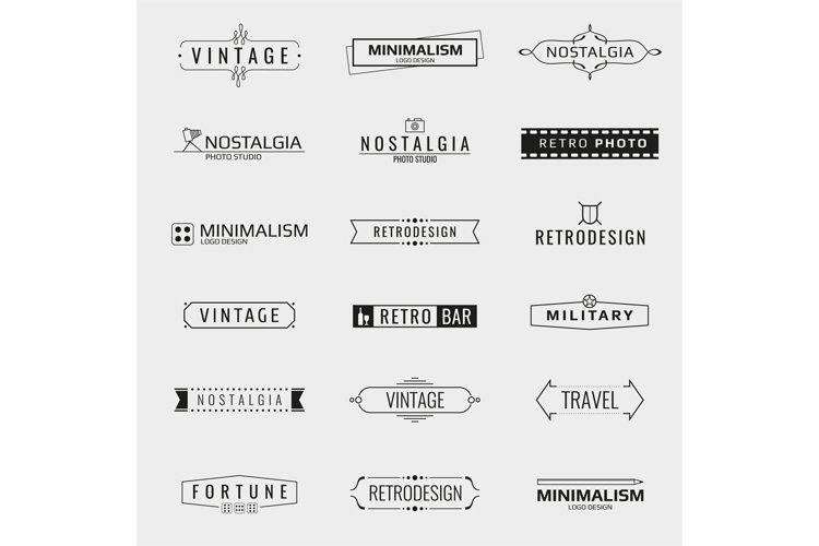 Vector minimal vintage logo templates example image 1