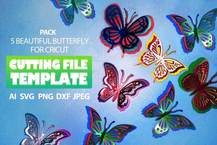 Butterfly SVG butterfl x5 clipart butterfly Stencil