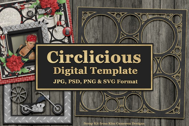 Circlicious Digital Template and Cuttable example image 1