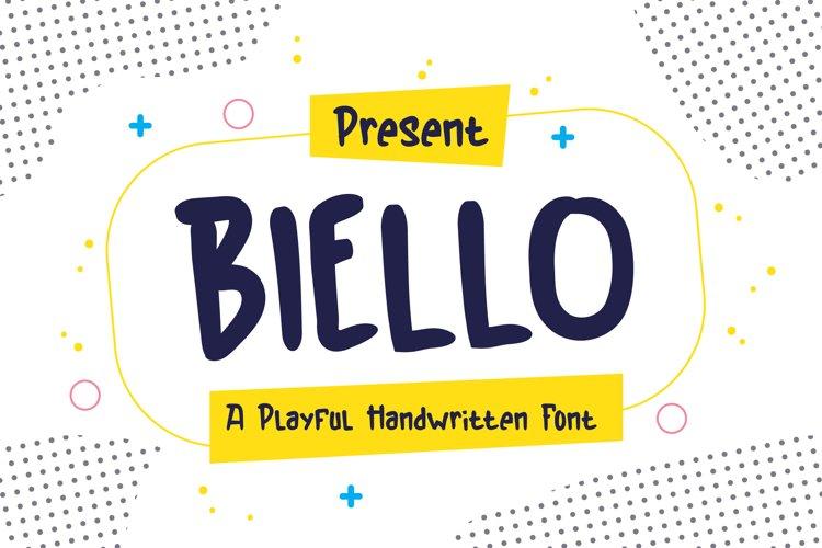 Biello Typeface - A Playful Handwritten Font example image 1
