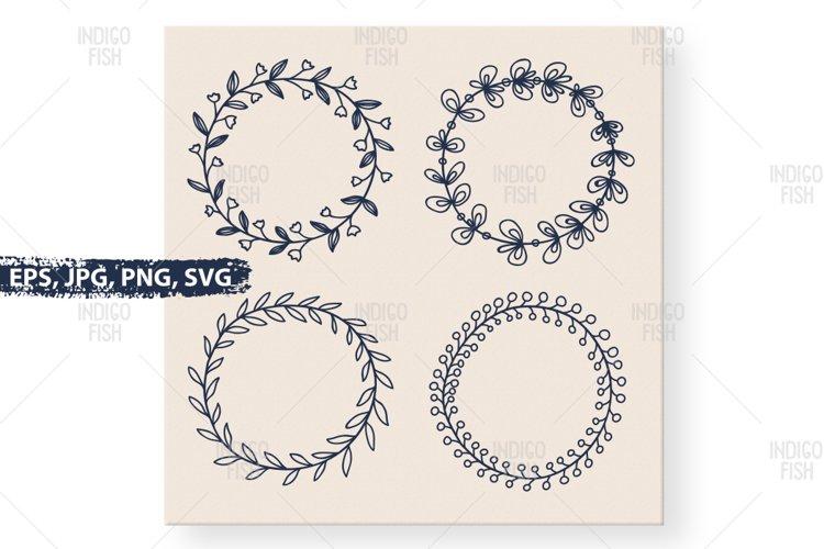 Hand Drawn Laurels Design SVG Cutting and Printing Files