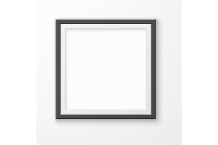 Picture frame. Realistic blank image on gallery wall, modern example image 1