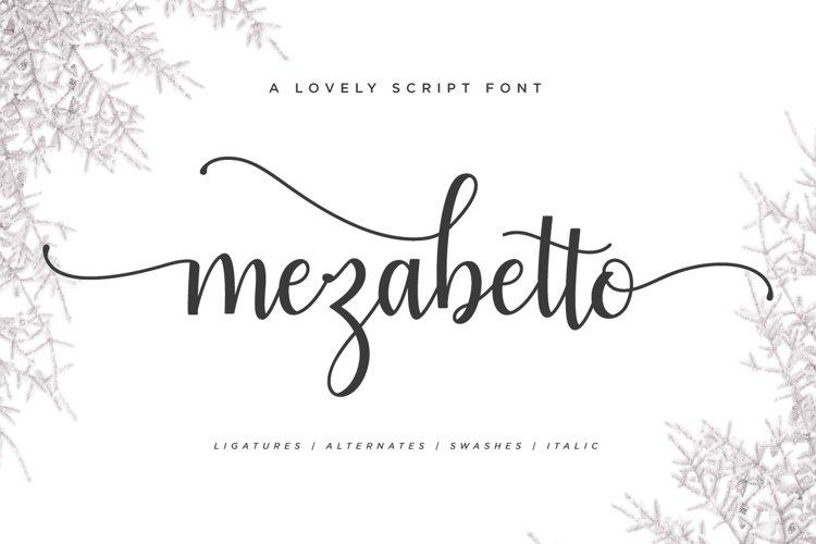 Mezabetto | Elegant Script Font example image 1