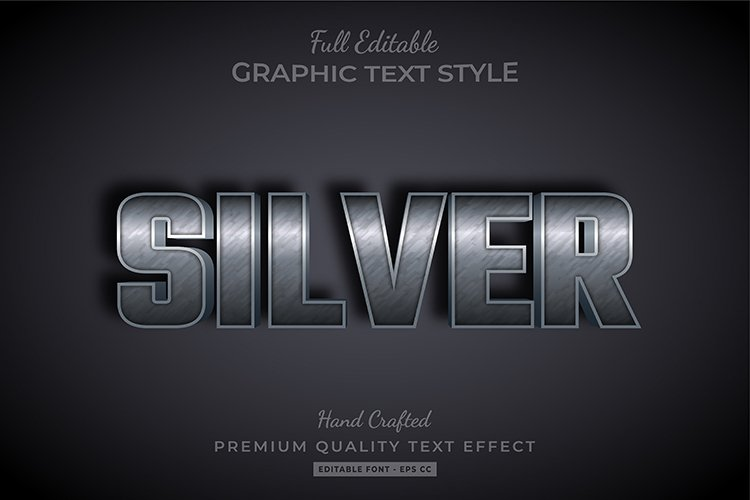 Rusty Silver Embossed Text Style Effect example image 1