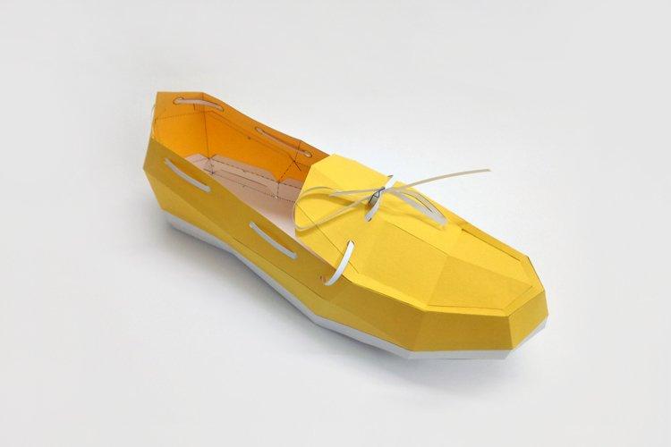 DIY Loafer Shoe - 3d papercraft example image 1