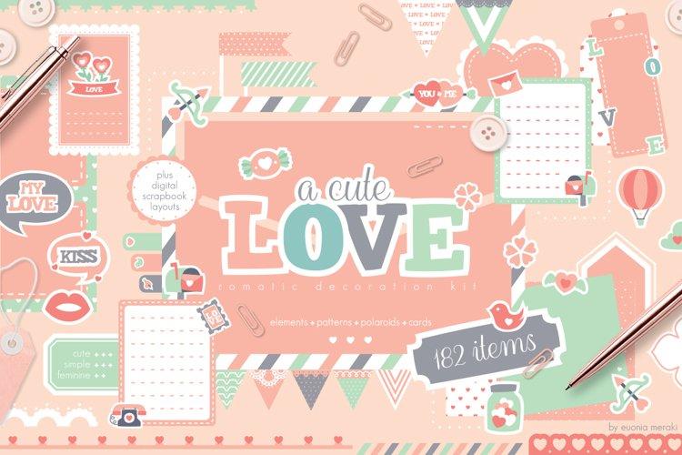 A Cute Love - Romantic Clipart Set