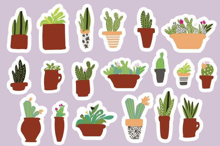 Cactus stickers BUNDLE example image 1