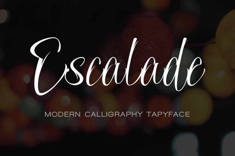 ESCALADE modern calligraphy example image 1