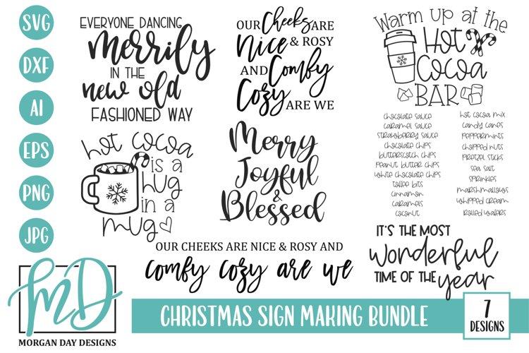 Christmas Sign Making SVG Bundle - Hot Cocoa Bar