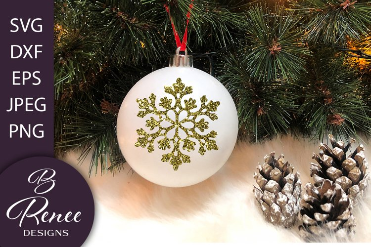 Snowflake SVG Bundle Vol 1 | Christmas Ornament SVG example image 1