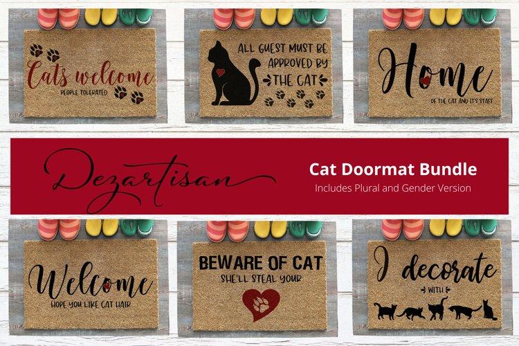 Cat Doormat Bundle SVG|DXF Cut File example image 1