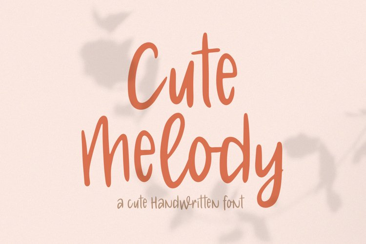 Cute Melody // Cute Handwritten Font example image 1