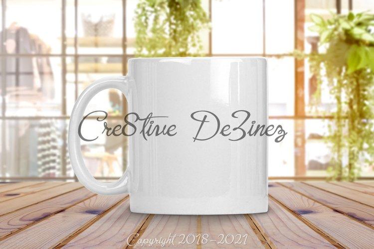 11 Ounce Coffee Mug Mock-Up with Greenery, PSD PNG JPG Tea example image 1