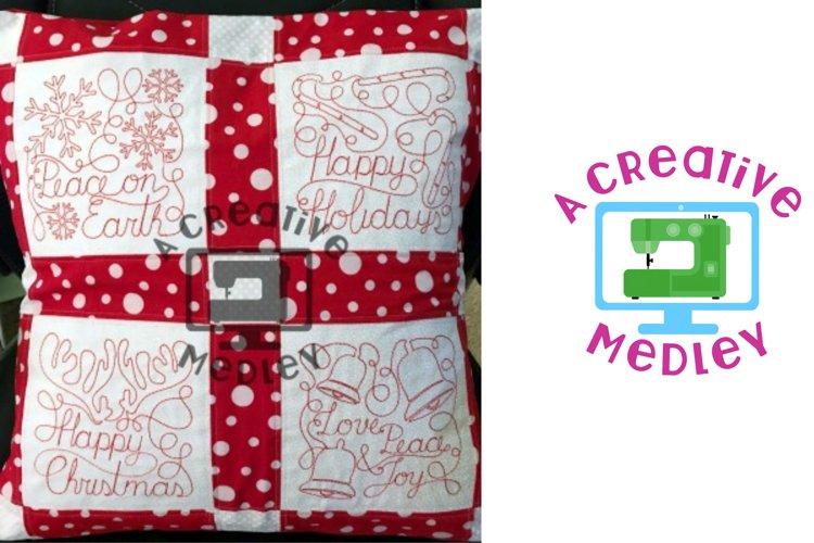 Christmas Blocks Set Embroidery Design