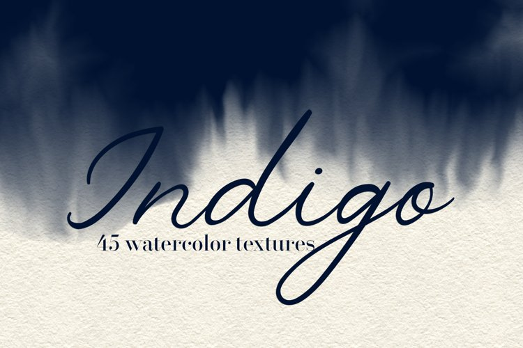 Indigo - 45 Watercolor Textures example image 1