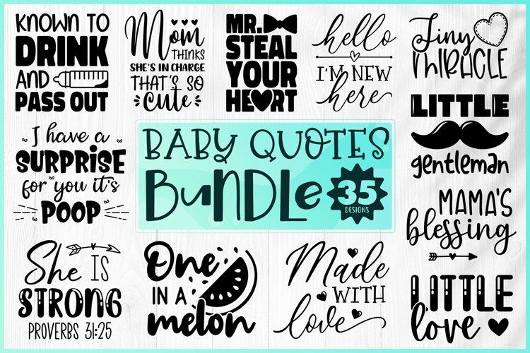 Baby Bundle SVG - Baby Quotes Bundle SVG - Cute Baby Bundle example image 1
